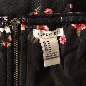 Forever 21 Dresses - Forever 21 Black Red Strapless Floral Dress
